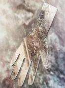 Acrylic Henna practice hand