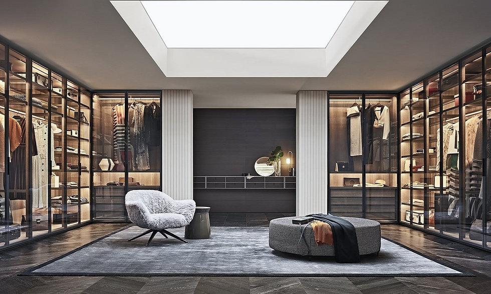 interior design for a walk-in wardrobe.j