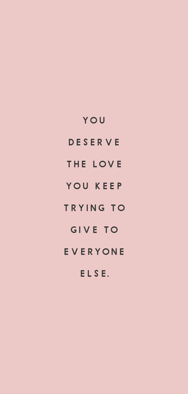 you deserve love