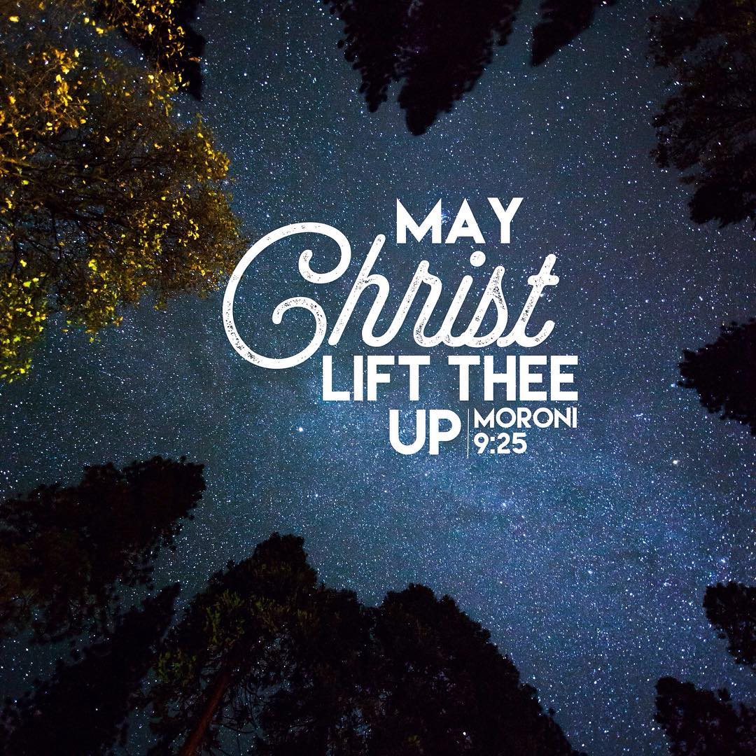 may Christ lift thee up