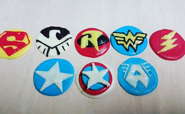 Chocolate Oreo toppers! Superhero at is