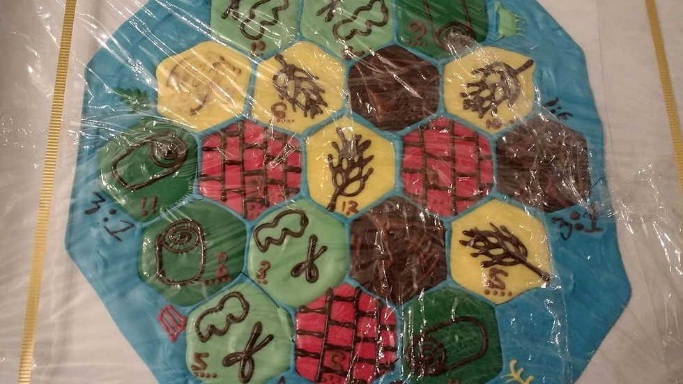 Chocolate Board Game: Settlers! Hand-made For Game Lovers