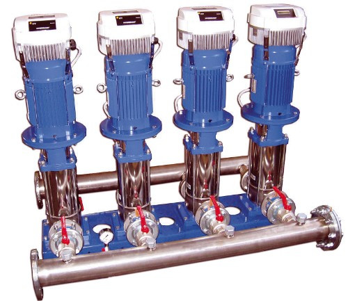 Inverter driven pumps on booster set