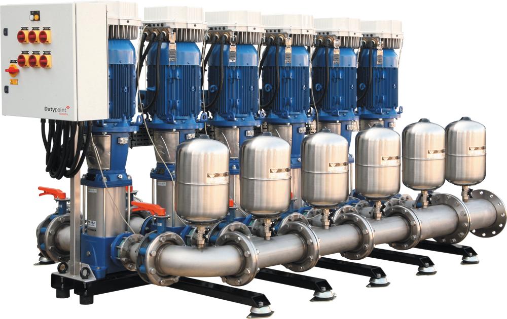 Increase pump pressure or flow
