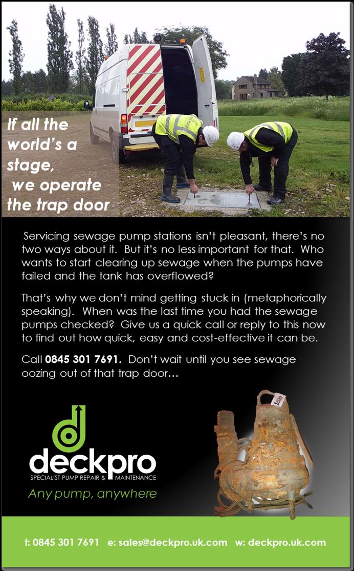 Sewage pump station servicing