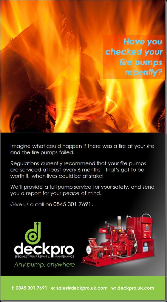 Fire pump servicing