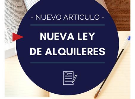 NUEVA LEY DE ALQUILERES