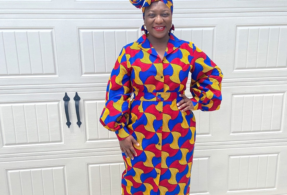 Made to Order: African Print Dress #2033