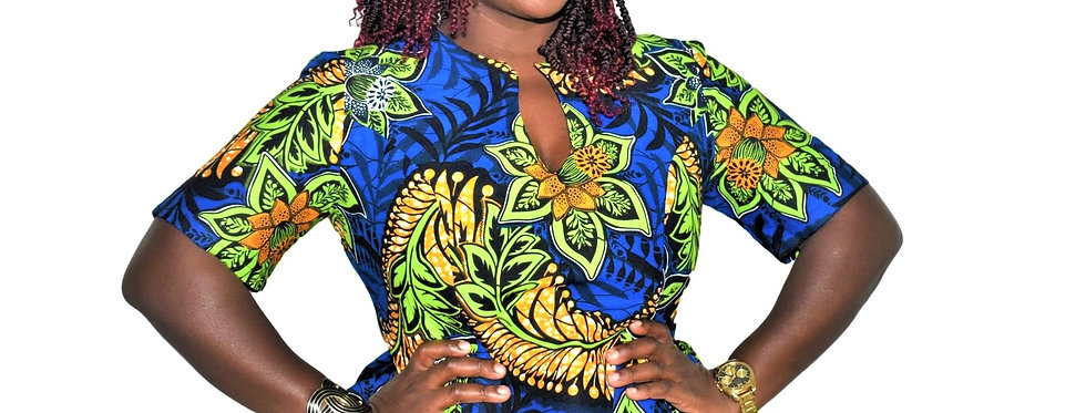 Made to Order: African Print Top #2063