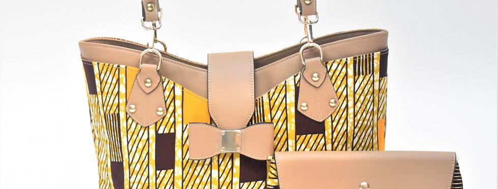 African Print Bag: Alyssa