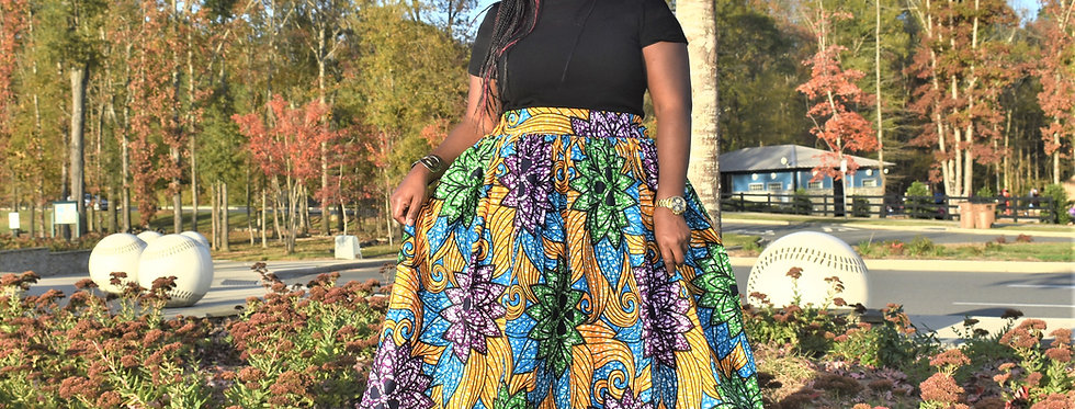 Made to Order: African Print Maxi Skirt #2026
