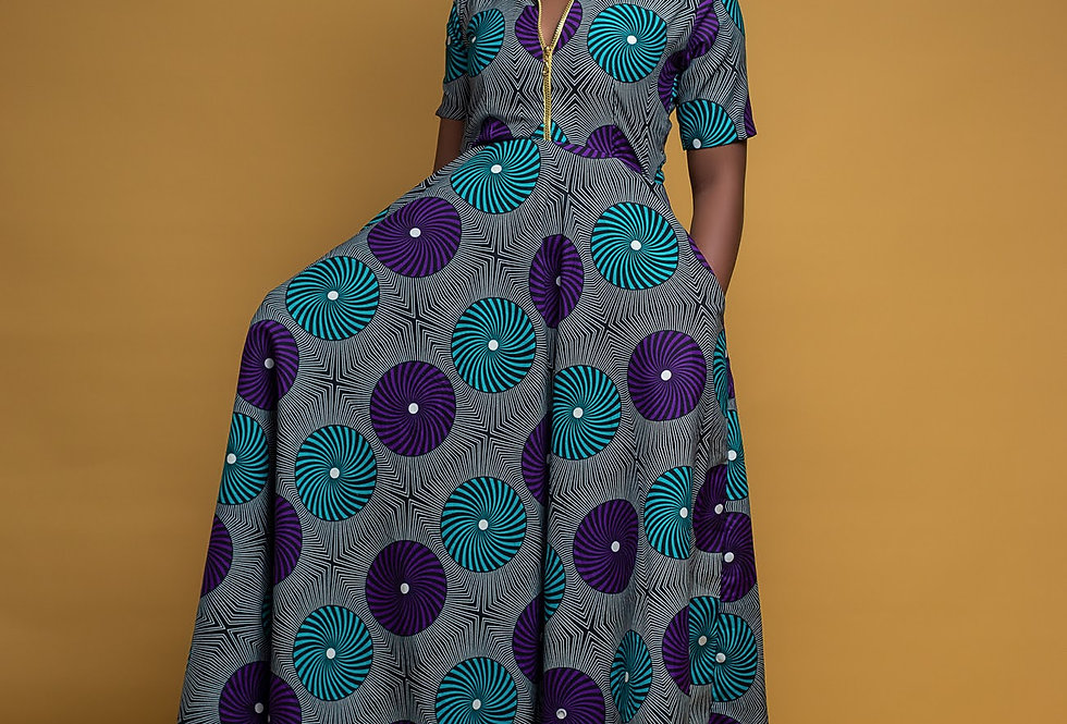 Ready to Ship: African Print Dress #2047