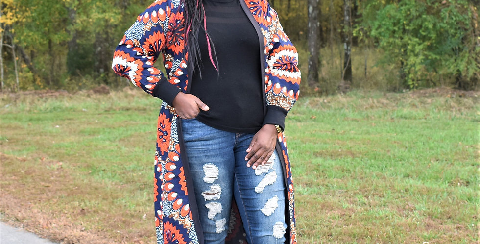 Made to Order: African Print Jacket #2058
