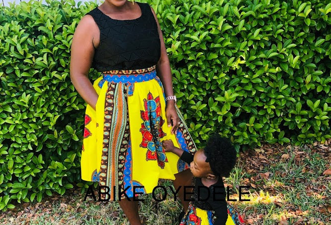 Made to Order: African Print Skirt Set #2056