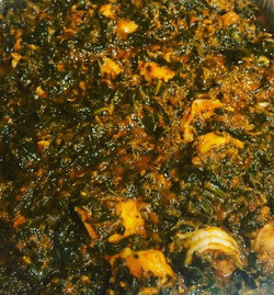 efo with shrimps and cod