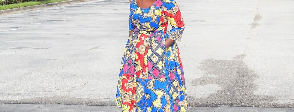 Made to Order: African Print Dress #2027