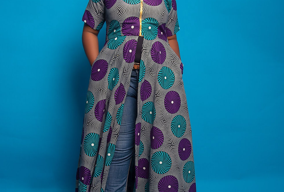 Made to Order: African Print Dress #2037