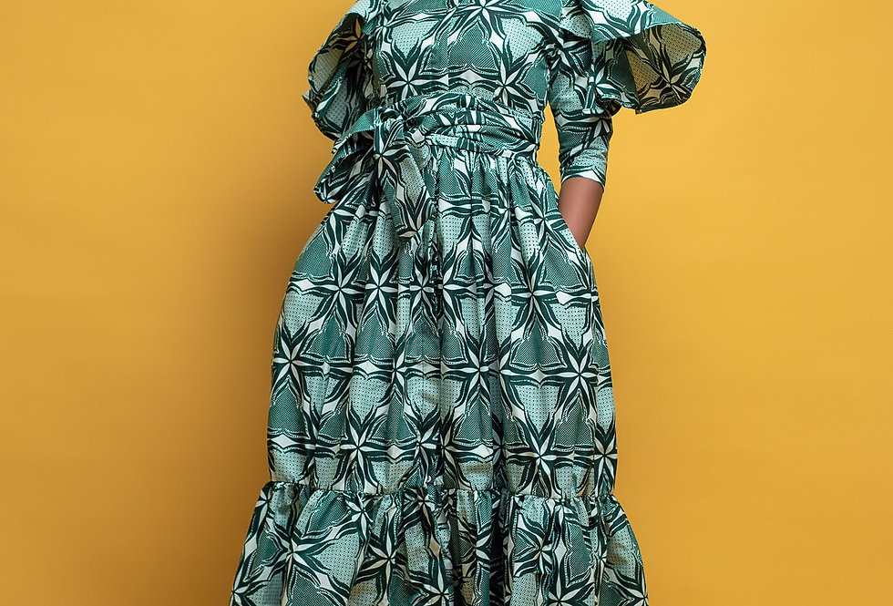 Made to Order: African Print Skirt Set #2043