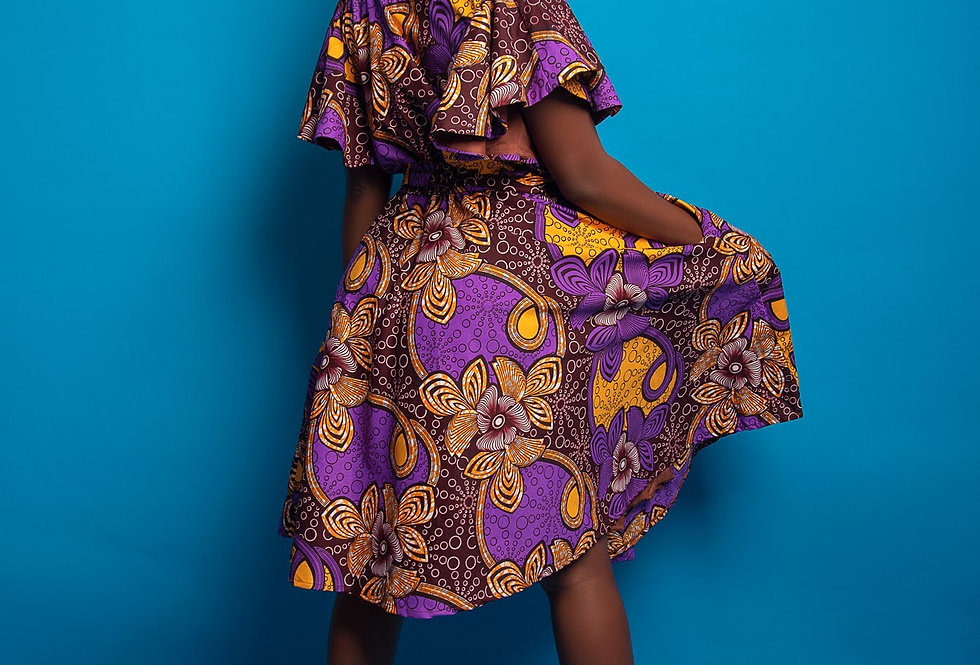 Ready to Ship: African Print Dress #2045