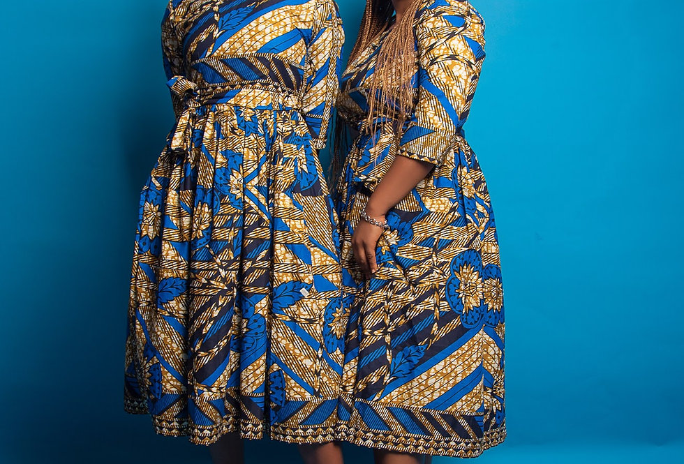 Ready to Ship: African Print Dress #2051