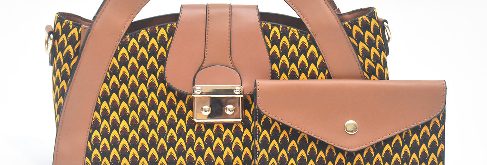 African Print Bag: Aurelia