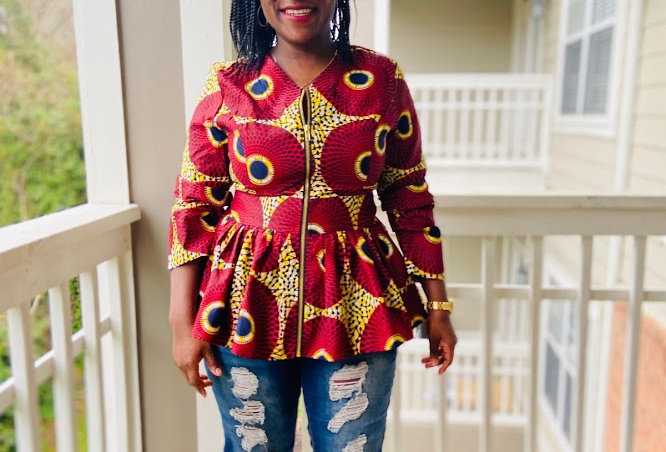 Made to Order: African Print Top #2062