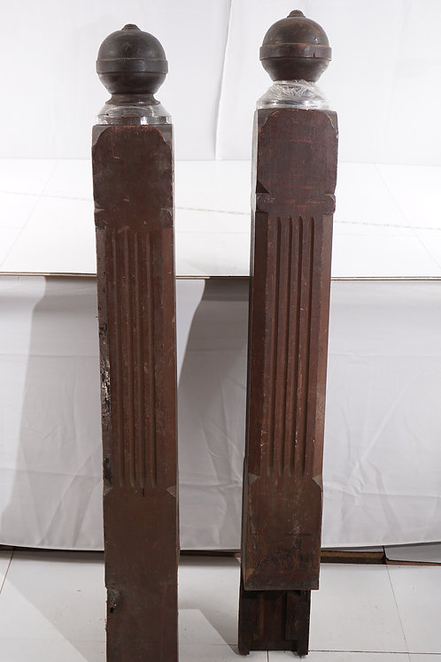Early 1900s Fluted Newel Post