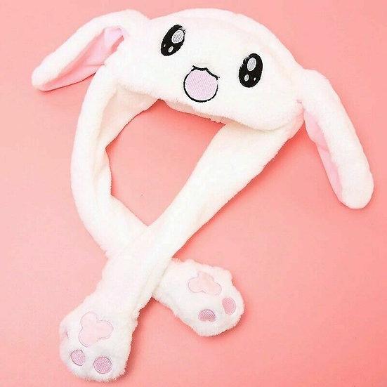 Cute Rabbit Bunny Hat Plush Move! Airbag Anime Cosplay!