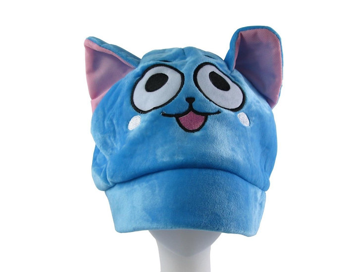 Fairy Tail Happy Soft Plush Hat Cap!