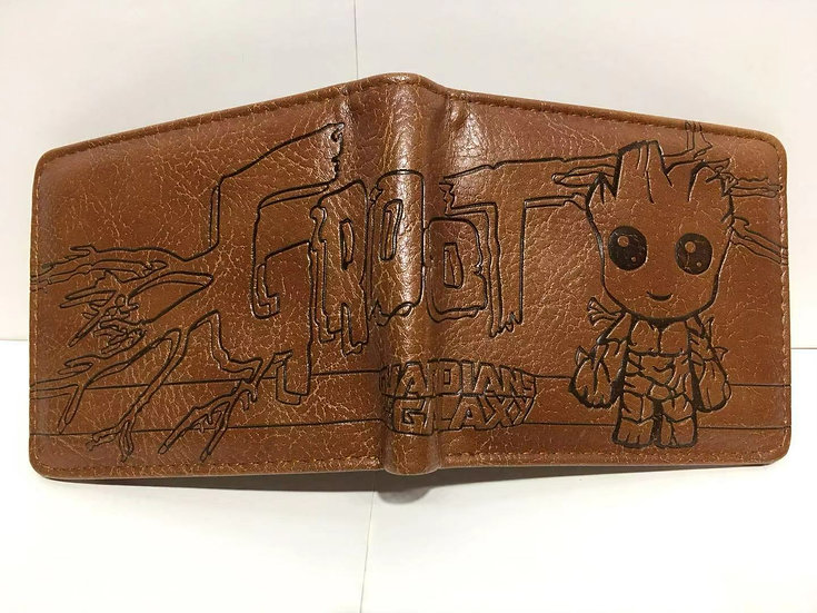 Groot Guardian of Galaxy Bifold Wallets! High Quality!