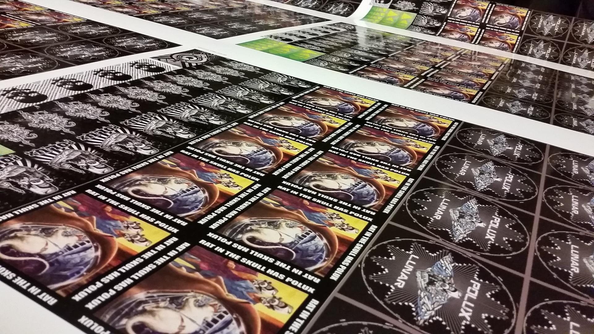 Impression stickers vinyl