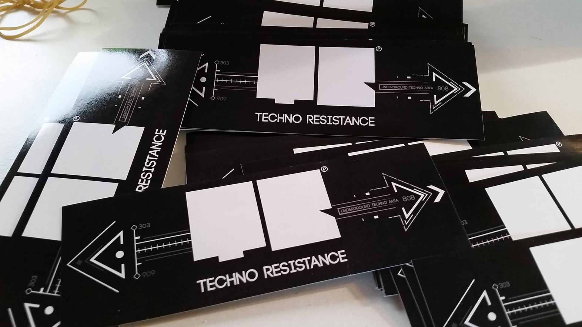 Sticker vinyl Techno Resistance