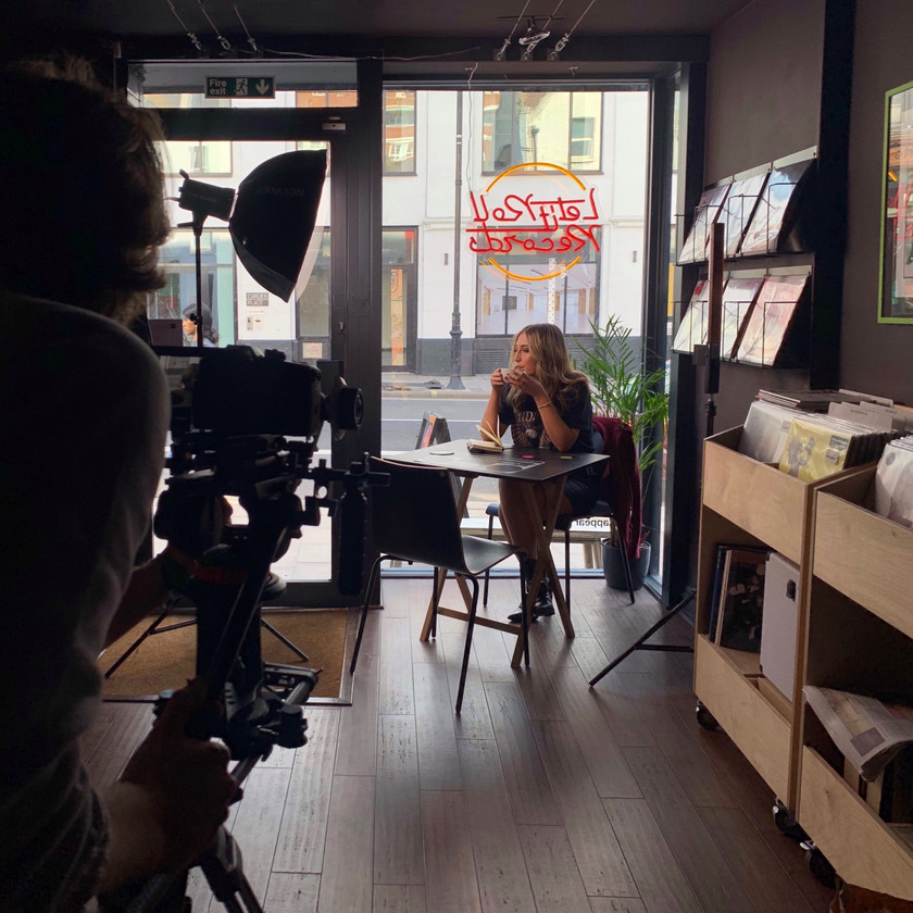 North Harley Films Behind The Scenes with Jess Thristan at Let It Roll Records