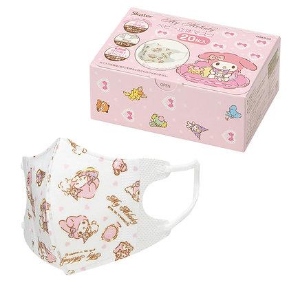 日本SKATER 幼兒3D盒裝口罩-Melody(20個)