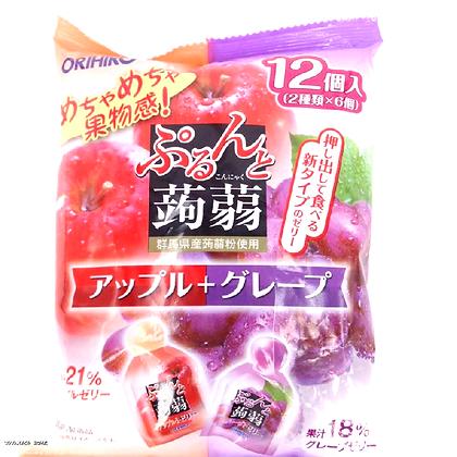 Orihiro 雙色果凍 #蘋果+葡萄味
