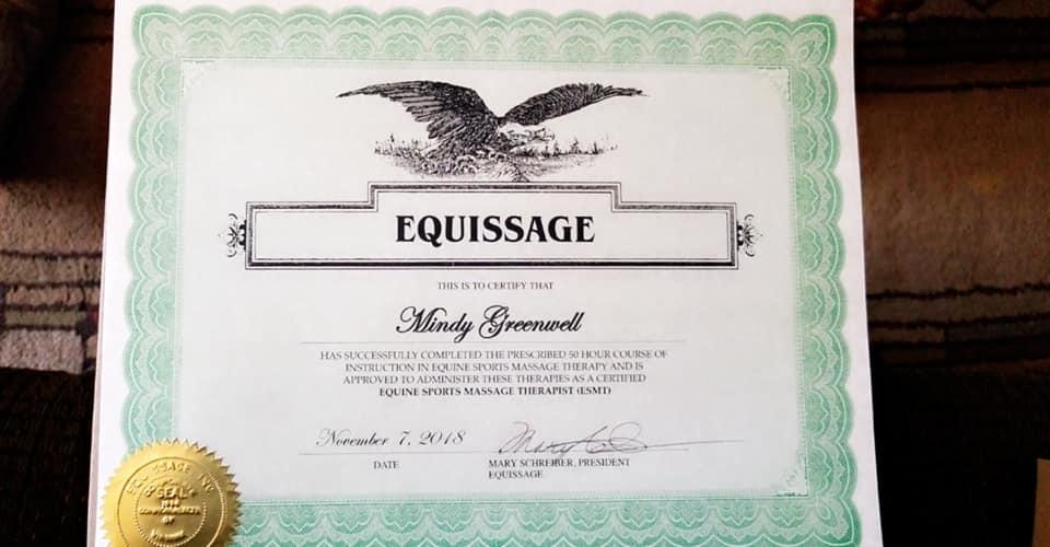 Certification for massage