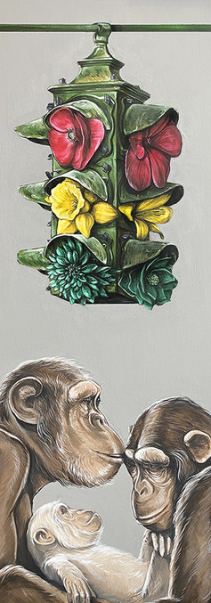 MOONLIGHT , acrylic on canvas, 160 x 110