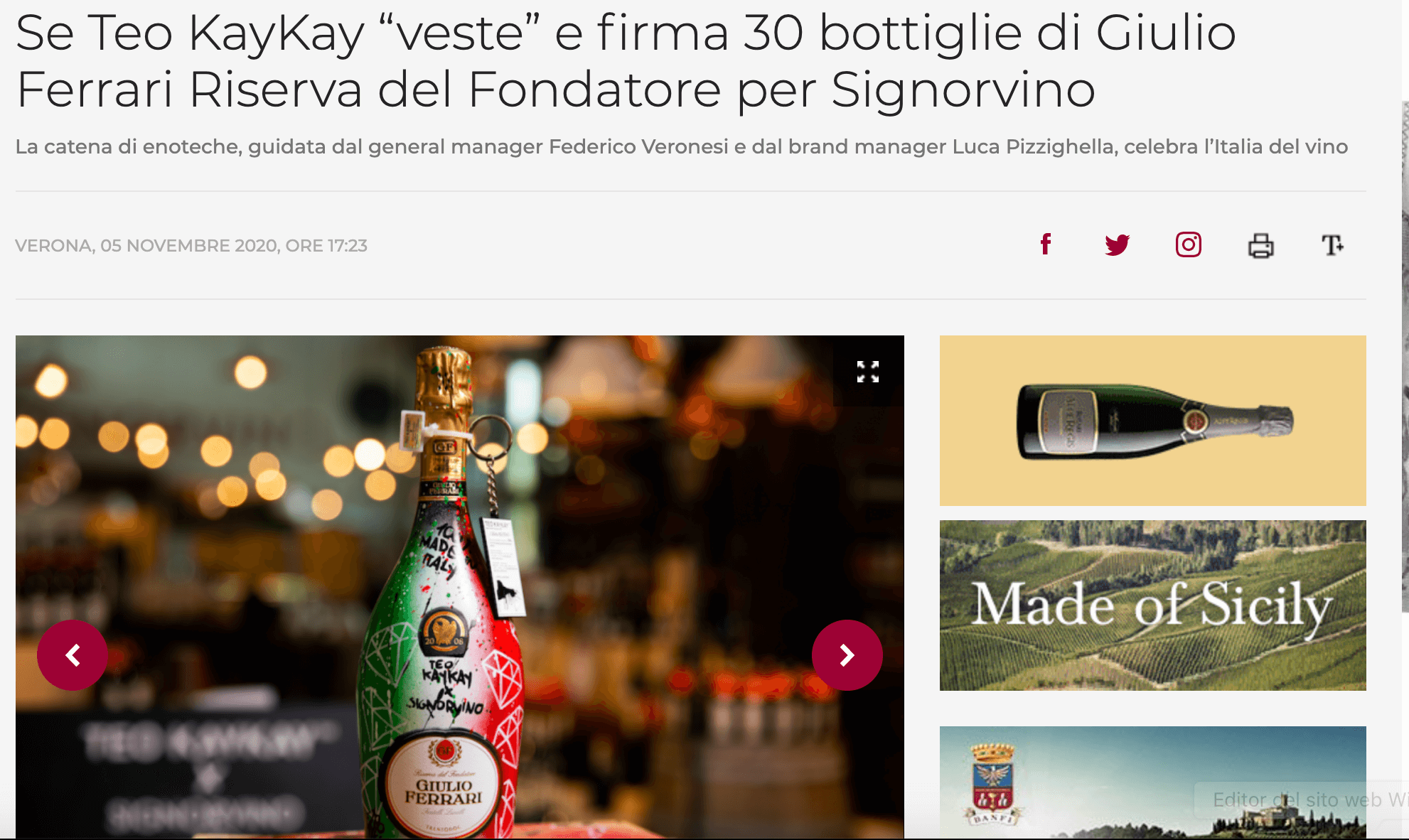 Teo KayKay Winenews