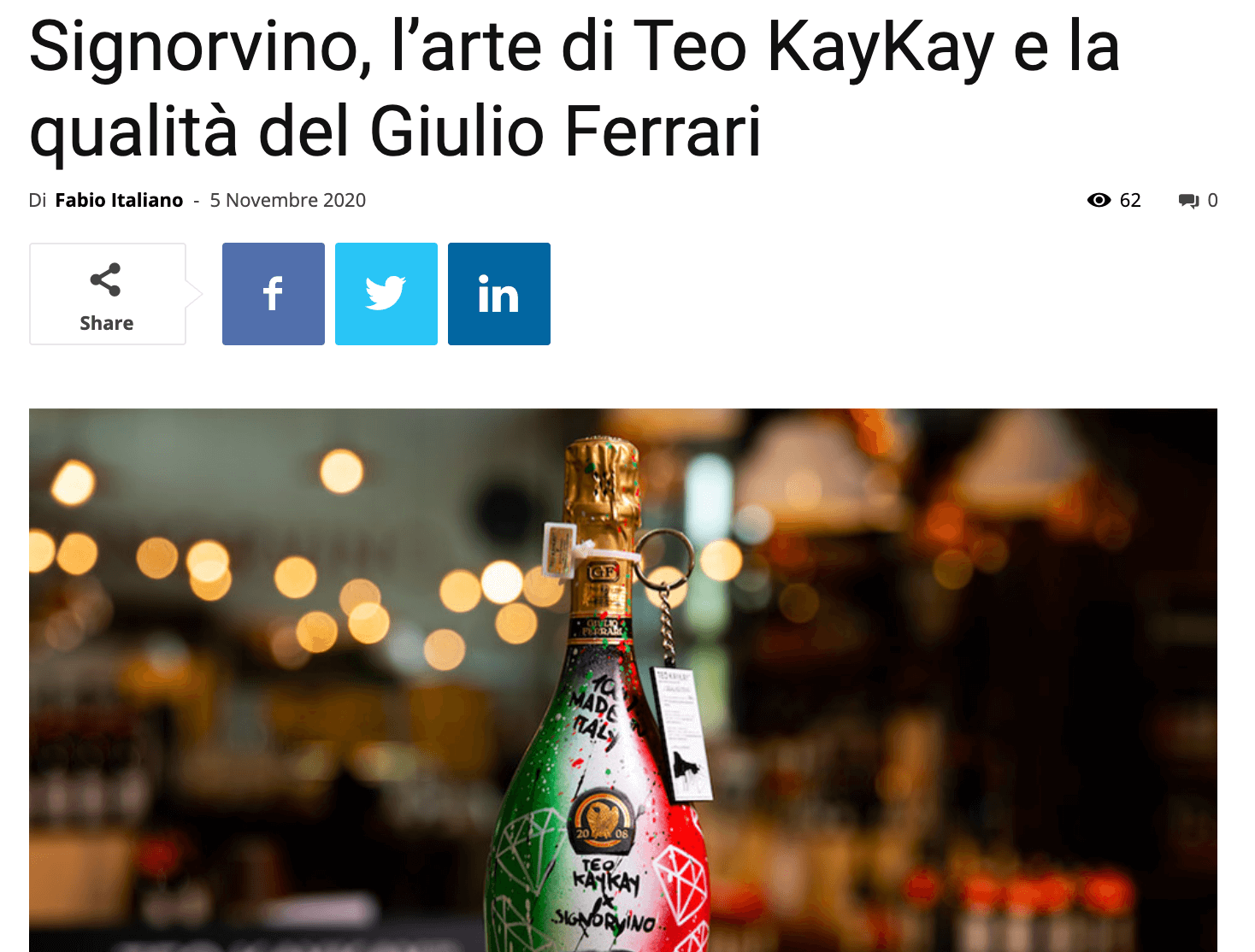 Teo KayKay Bere Il Vino