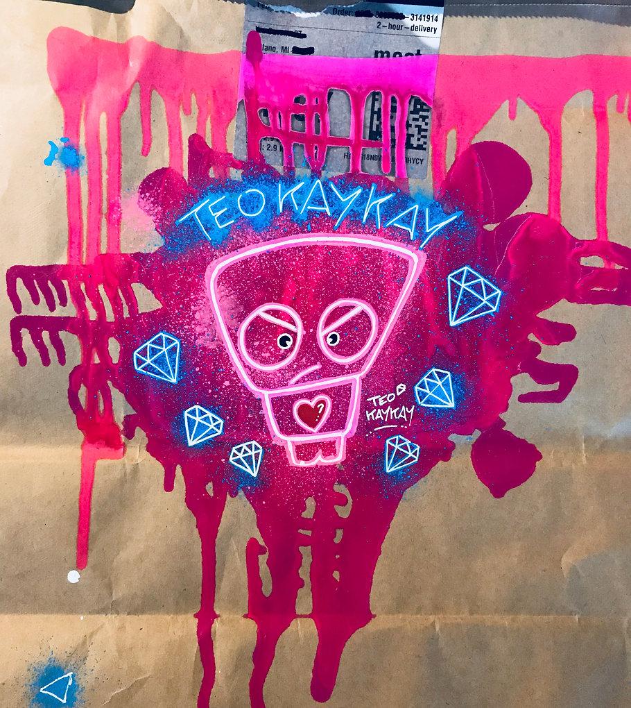 Teo Kay Kay Graffiti Letter