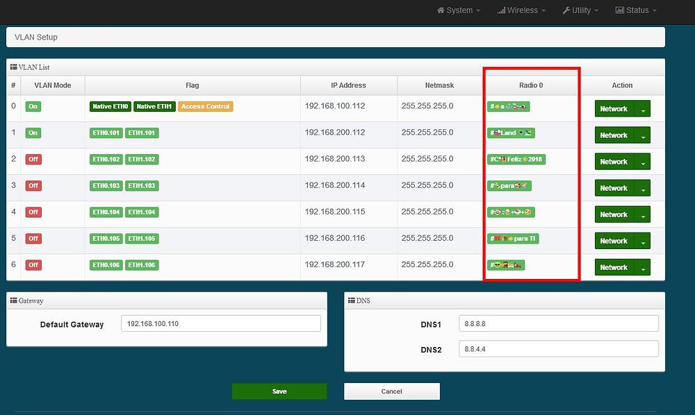 Solucion con Capacidad de Multiple SSID