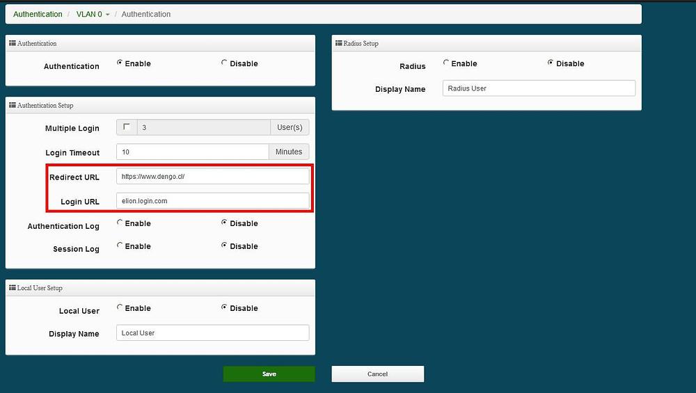 Redireccionamiento a una URL Especifica de una SSID