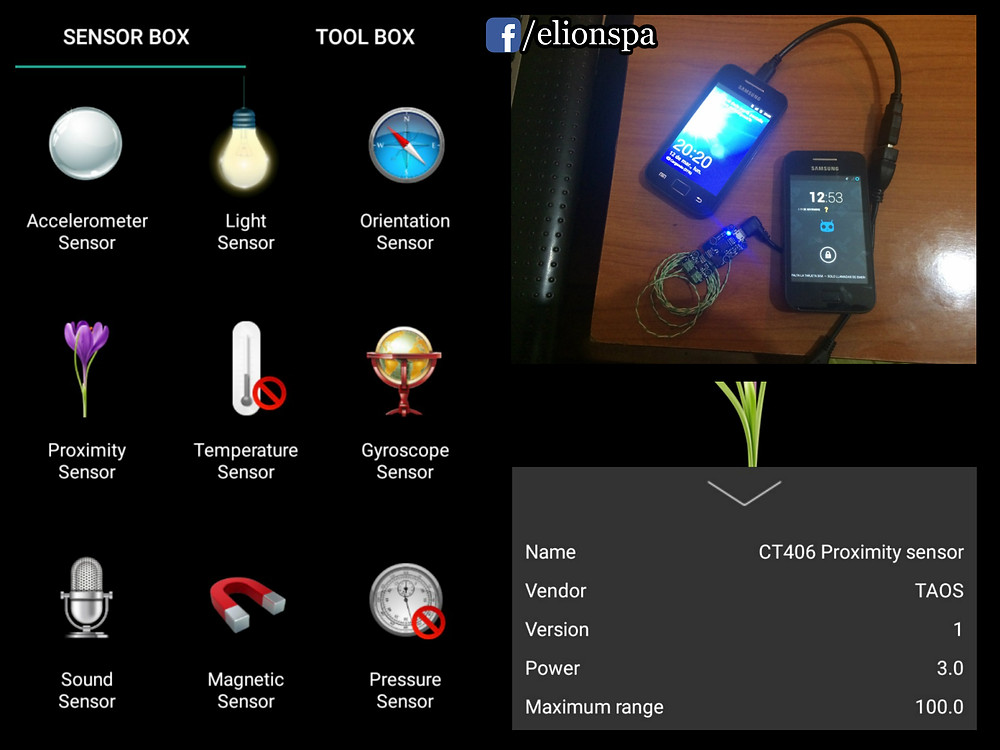 Sensores de Telefono Motorola Android