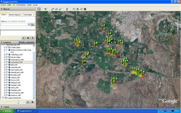 REDES WI-FI:  Mapas de Cobertura Wi-Fi Georeferenciados y Proyectos Wi-Fi Comunitarios