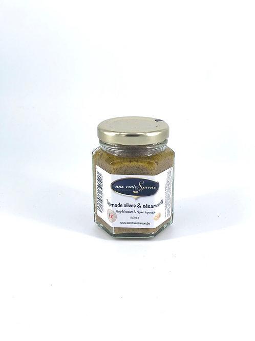 Tapenade olive et sesame grillé