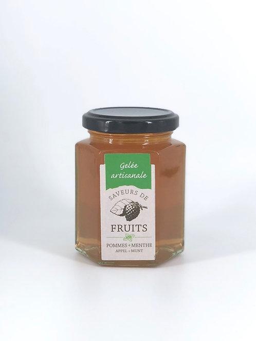 Gelée artisanale Saveurs de Fruits Pomme Menthe
