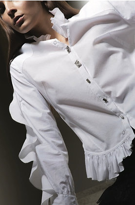 Chemise blanche manches fantaisies