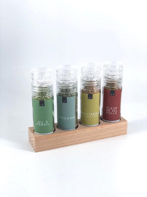 box de 4 sels aromatisés