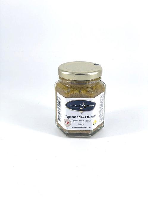 Tapenade à olive et citron