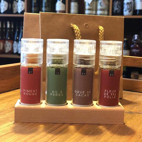 Petit pack de 4 sels aromatisés
